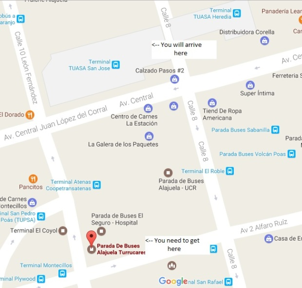 Marked Maps Turrucares